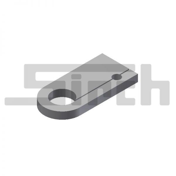 Lasche für Sicherungsbolzen 85 mm mit Bohrung Art.Nr. 25142