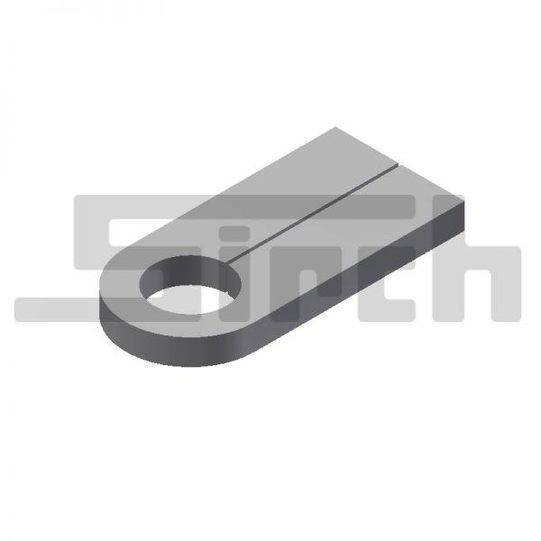 Lasche für Sicherungsbolzen 85 mm ohne Bohrung Art.Nr. 25141