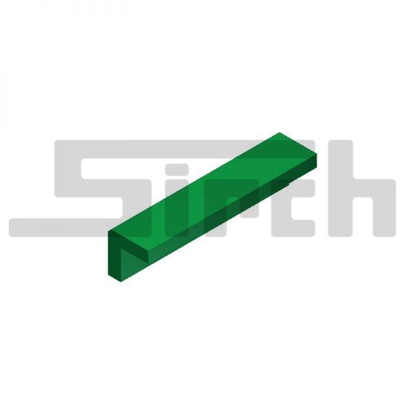 Winkel 250/60 aus PE 1000 grün 60er Version Kunststoffführung Schubschild Art.Nr. 25354