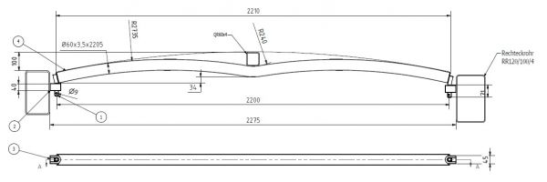 Dachspriegel Typ 4 Schwalbe Multitainer für Bahncontainer Art.Nr. 24598