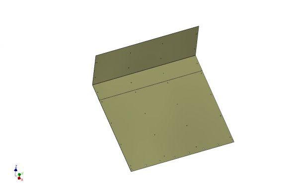 Nachrüstsatz Schubschild Edelstahlbeblechung 3 mm Edelstahl Art.Nr. 24465