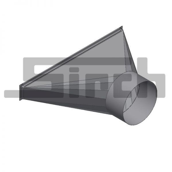 Einblastrichter für Trocknungsboden für Schlauch Ø 400 mm Art. Nr. 23547