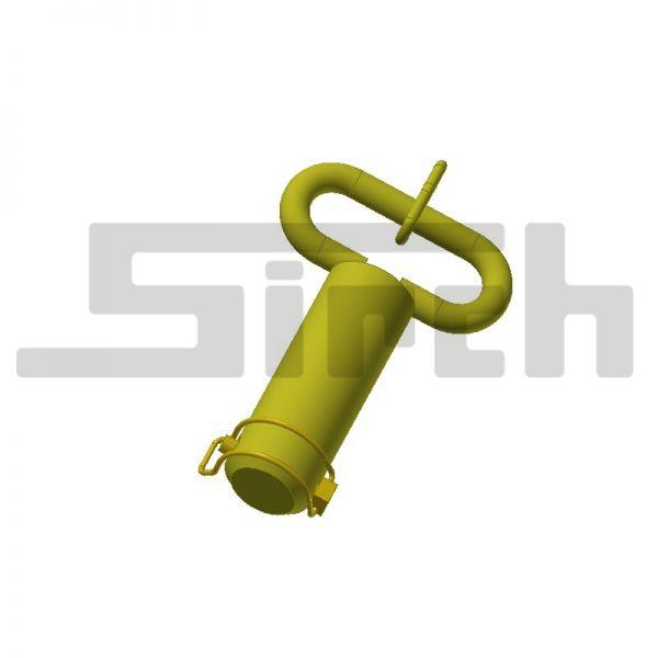 Bügel Stecker mit Oese komplett mit Kette und Rohrklappstecker Art.Nr.24874