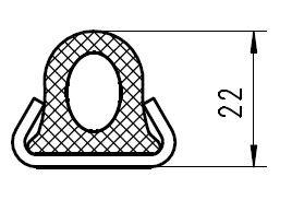Kantprofil für Schwalbenschwanzdichtung Art.Nr. 90603