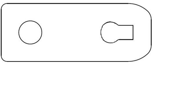 Türen Klapp-Podest Lasche zum Sichern für Bahncontainer Art.Nr. 24627