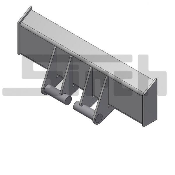 Kettenaufnahme komplett Art-Nr. 10773 Abrollcontainer nach DIN 30722