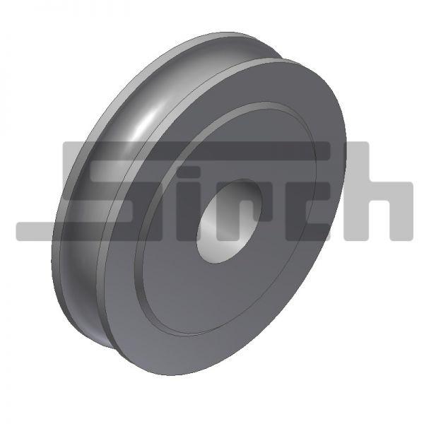 Seilrolle D= 60 mm für Uni-Pendelklappe Art.Nr. 10583