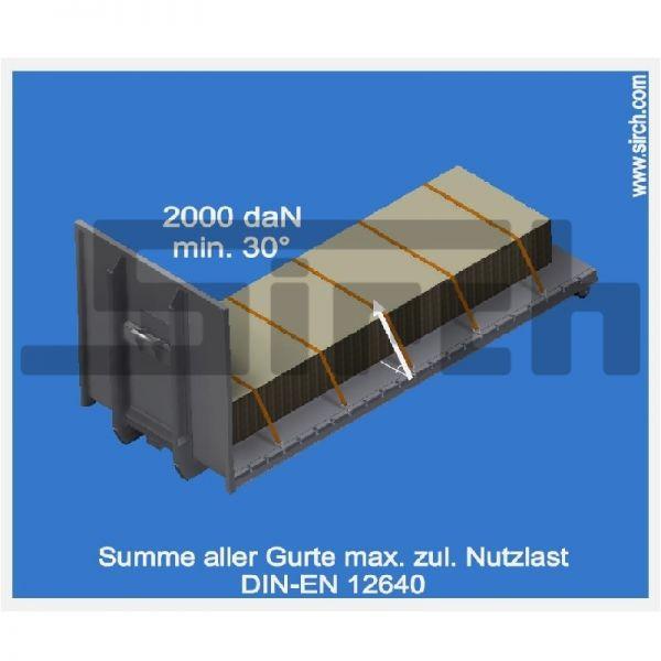 Aufkleber Ladungssicherung Zurrleiste mit runden Ecken Art.Nr. 24842