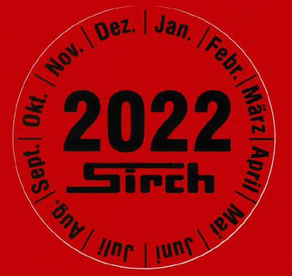 Aufkleber Prüfplakette - PVC Jahr 2022 Art.Nr. 70006