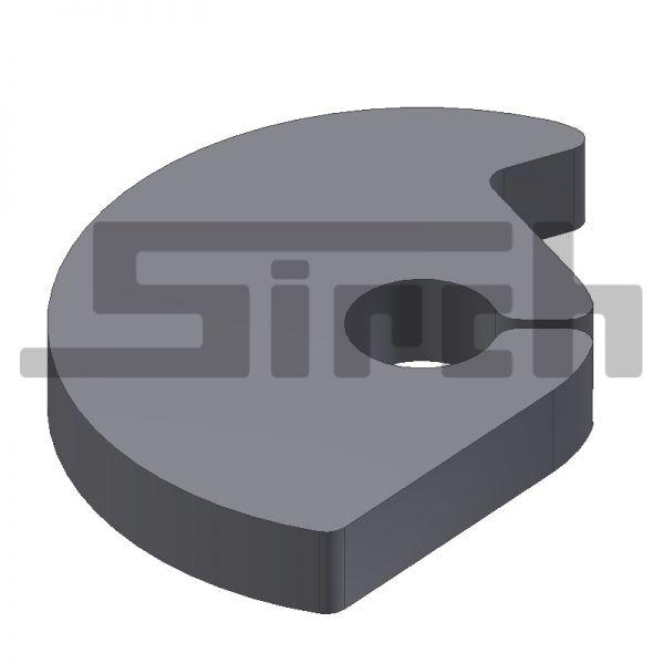 Scheibe für Scheiben-Nasen-Verriegelung 30 mm Art-Nr. 09090 t=20 mm