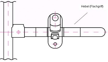 Flachgriff Türe Multitainer für Bahncontainer Art.Nr. 24608