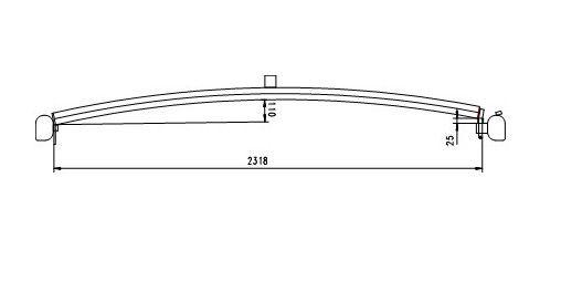 Dachspriegel Typ 5 drehbar 135 für Bahncontainer Art.Nr. 24599