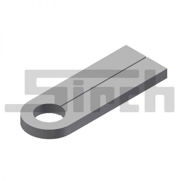 Lasche für Sicherungsbolzen 115 mm ohne Bohrung Art.Nr. 25143