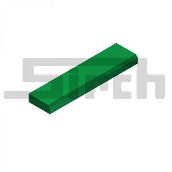 Flach 250/60 aus PE 1000 grün 60er Version Kunststoffführung Schubschild Art.Nr. 25355