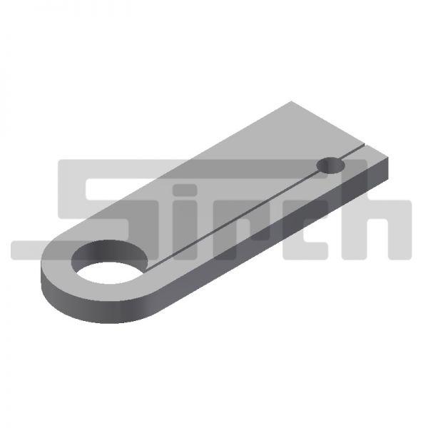 Lasche für Sicherungsbolzen 115 mm mit Bohrung Art.Nr. 25144