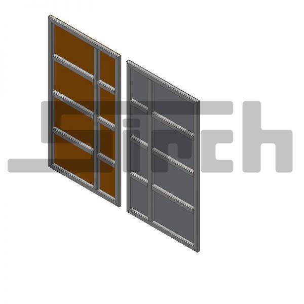 ARC Türblatt ohne Ausschnitt mit Rahmen 70/50/3 bis Höhe 2500 mm Art-Nr. 19721