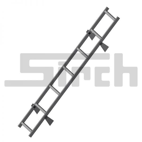 Leiter 7-Stufen verzinkt mit Anschweißlaschen und Schraubensatz Art.Nr. 23027